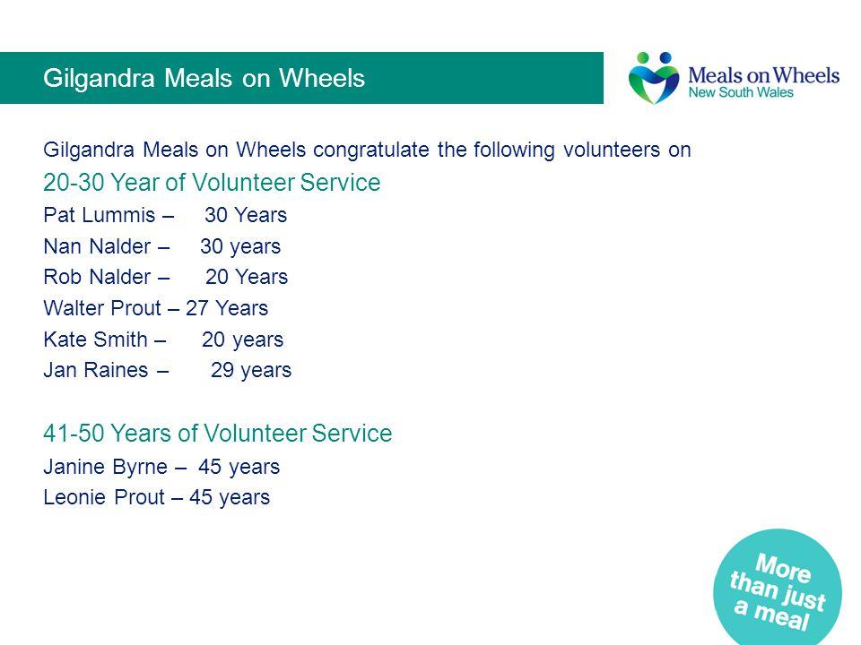 Gilgandra Meals on Wheels