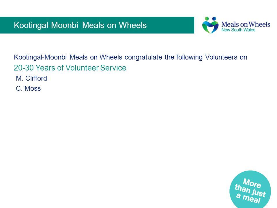 Kootingal-Moonbi Meals on Wheels