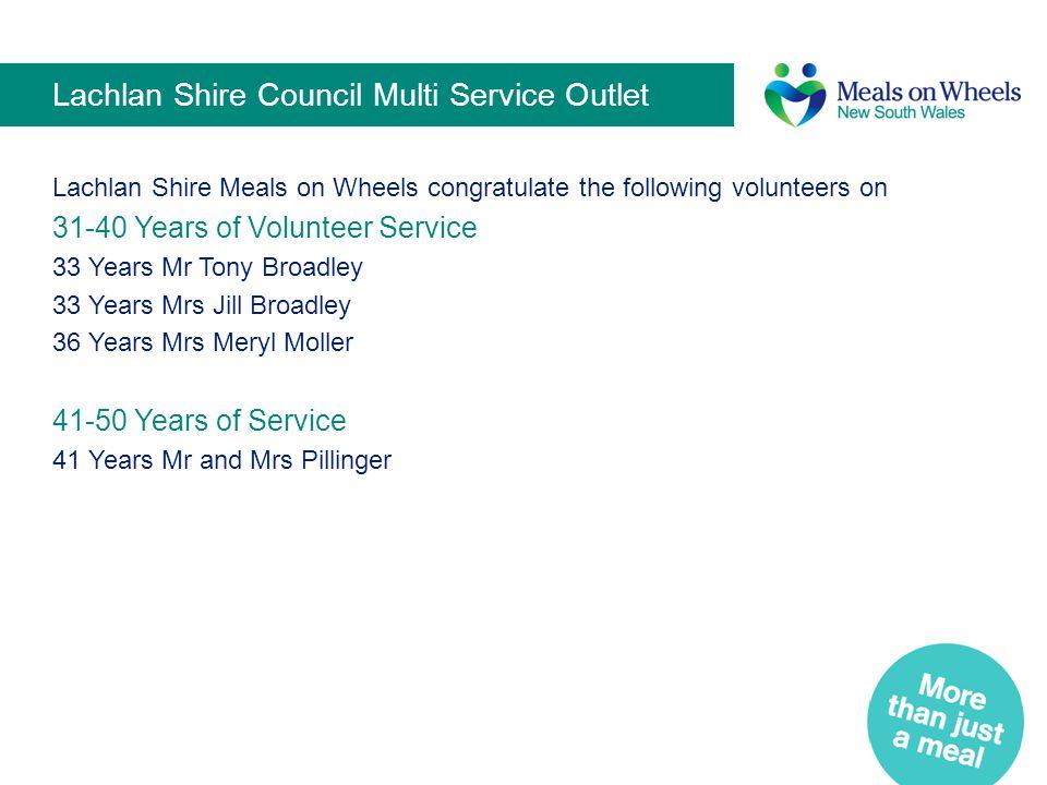 Lachlan Shire Council Multi Service Outlet