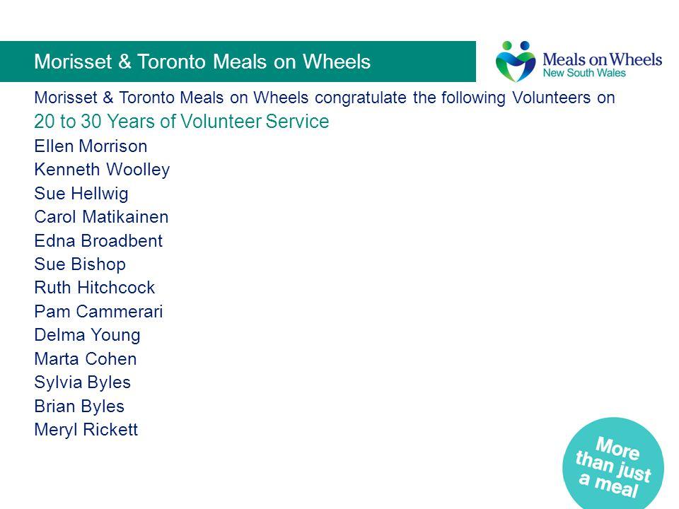 Morisset & Toronto Meals on Wheels