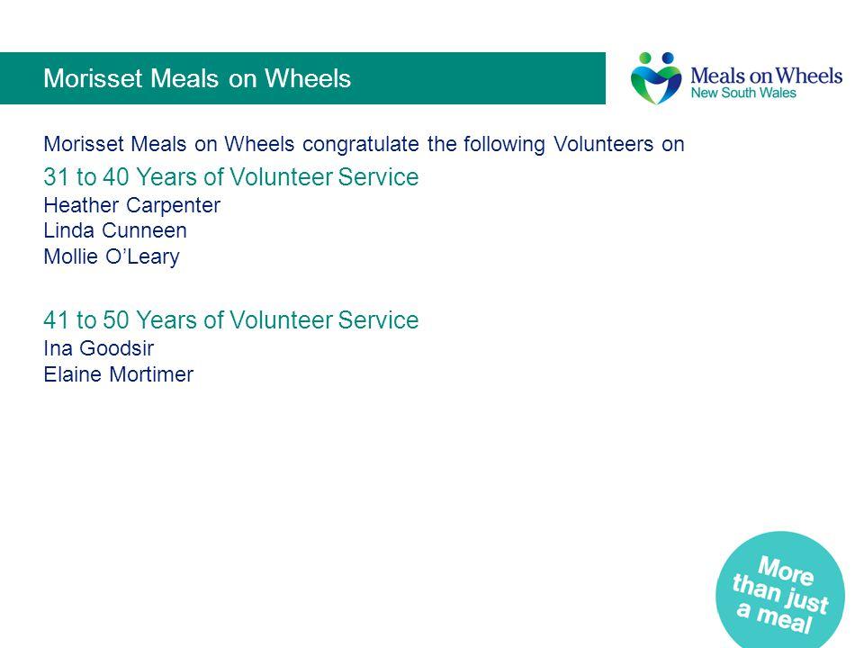 Morisset Meals on Wheels