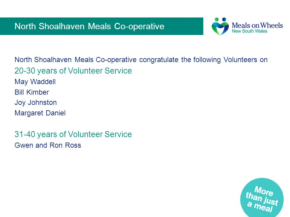 North Shoalhaven Meals Co-operative