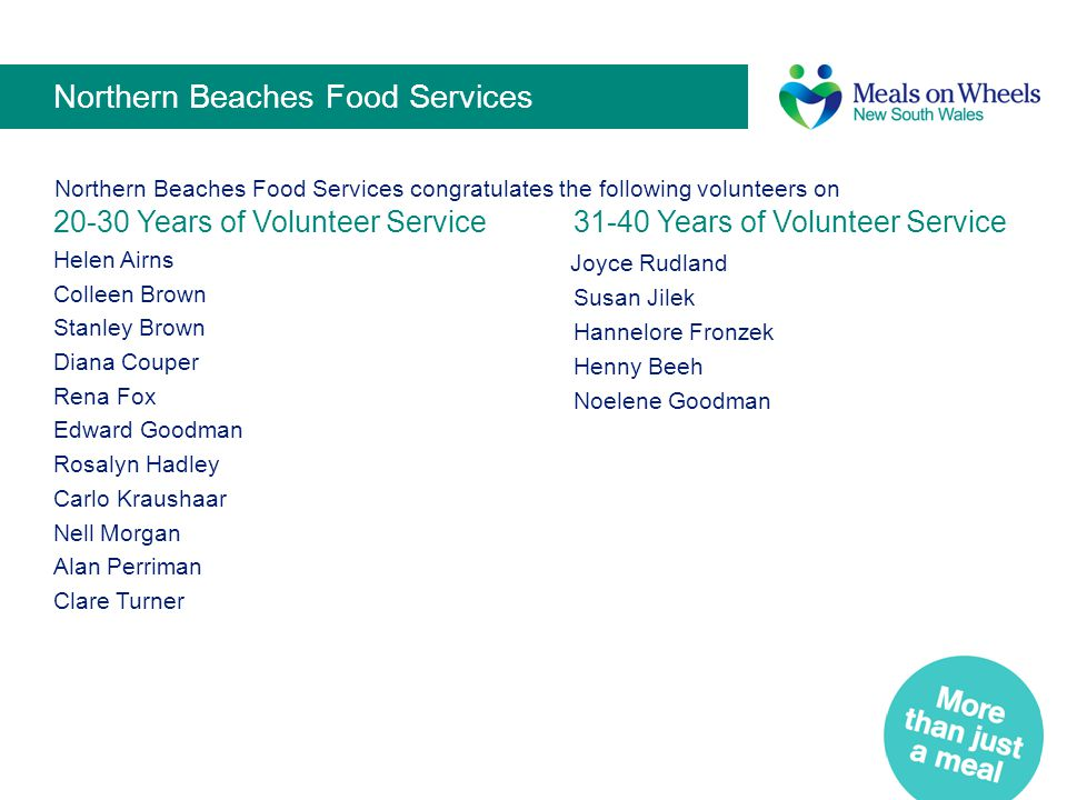 Northern Beaches Food Services