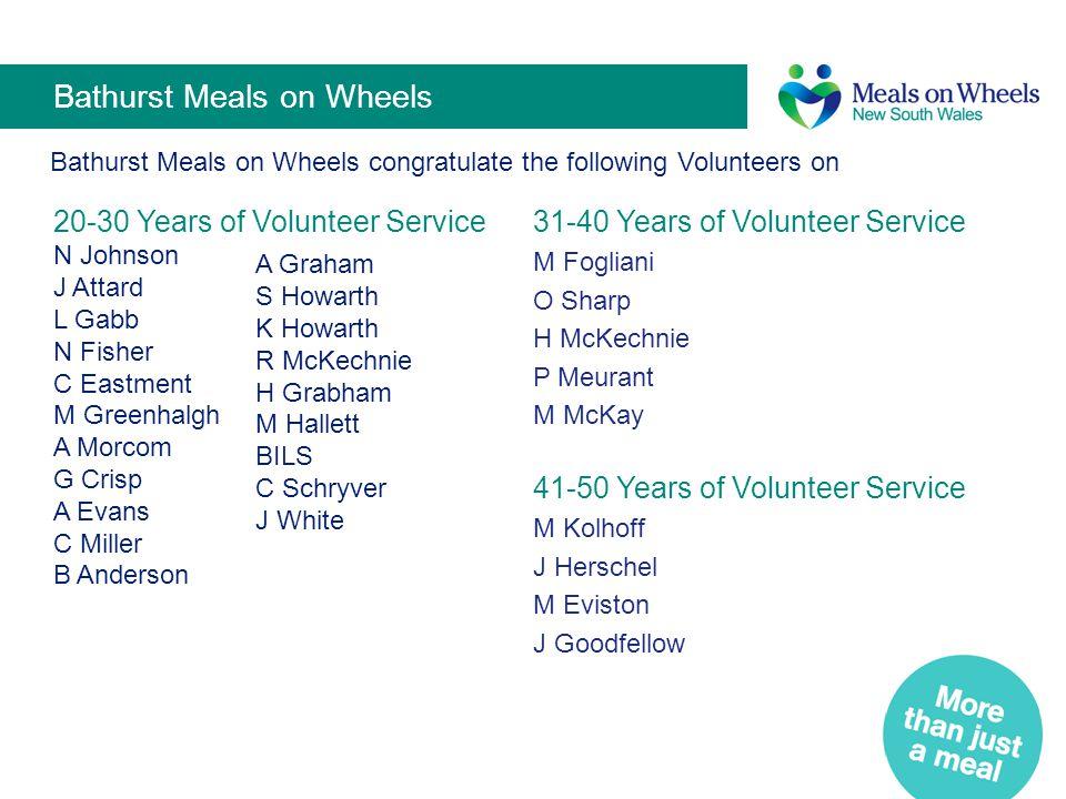 Bathurst Meals on Wheels