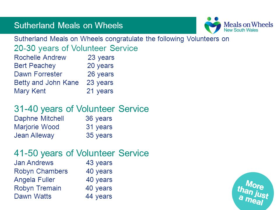 Sutherland Meals on Wheels