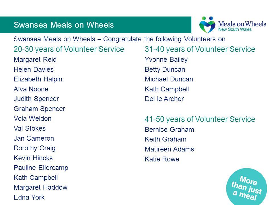 Swansea Meals on Wheels