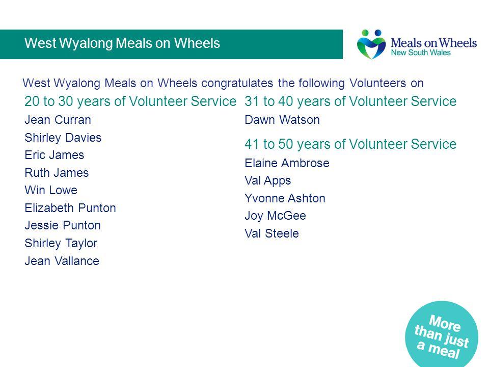 West Wyalong Meals on Wheels