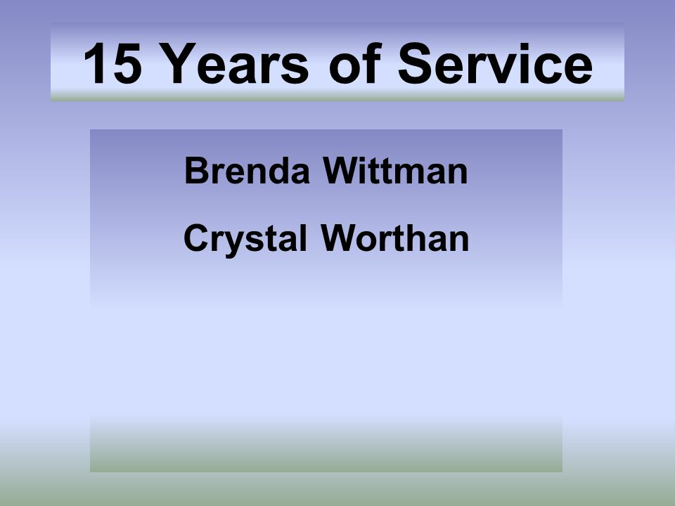 Brenda Wittman Crystal Worthan