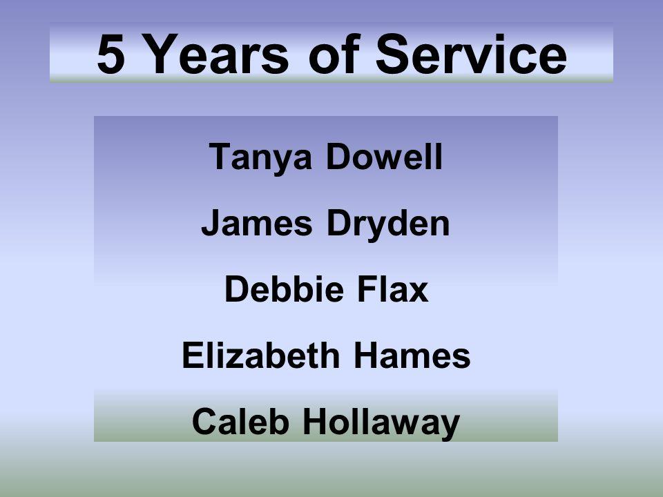 Tanya Dowell James Dryden Debbie Flax Elizabeth Hames Caleb Hollaway
