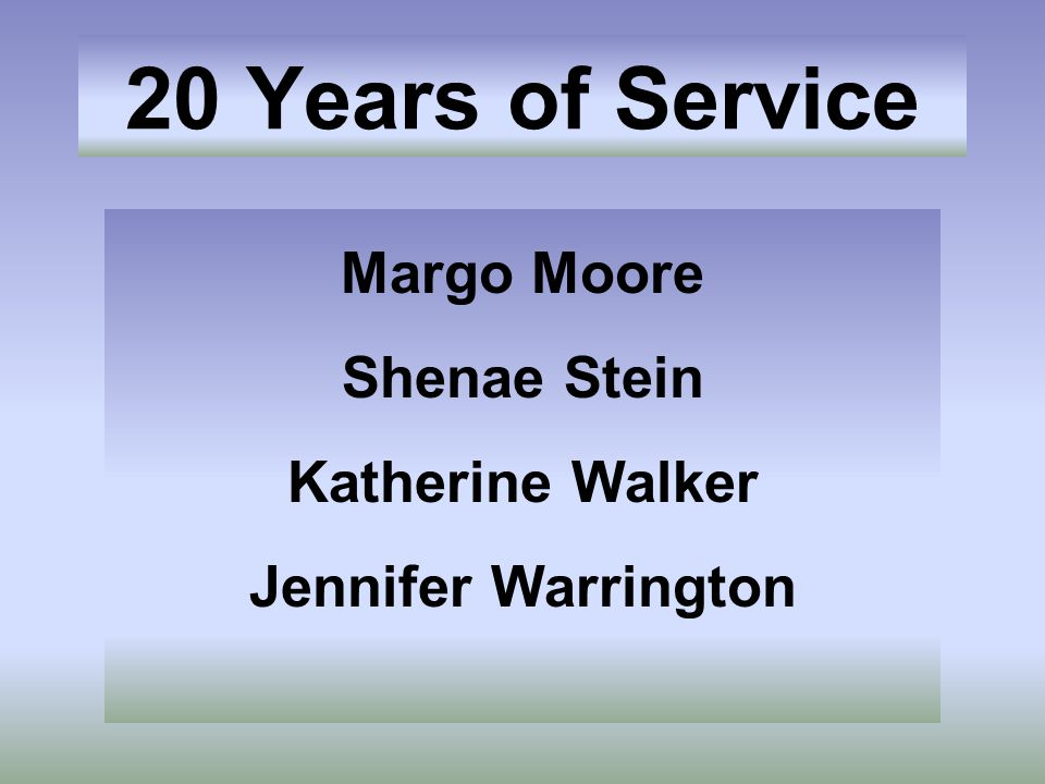 Margo Moore Shenae Stein Katherine Walker Jennifer Warrington