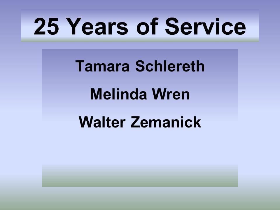 Tamara Schlereth Melinda Wren Walter Zemanick