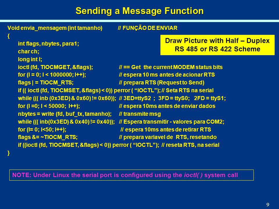 Sending a Message Function