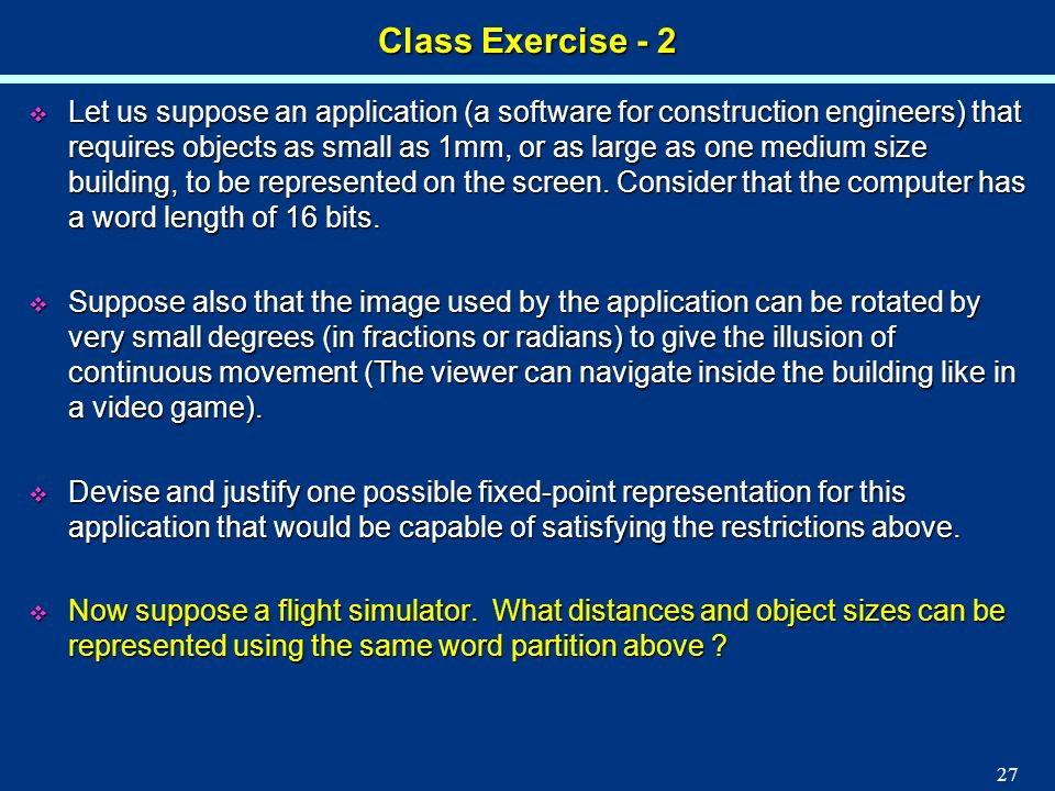 Class Exercise - 2