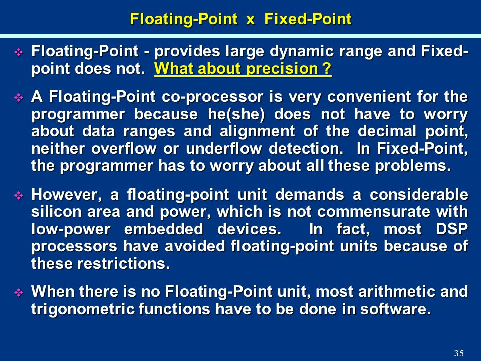Floating-Point x Fixed-Point