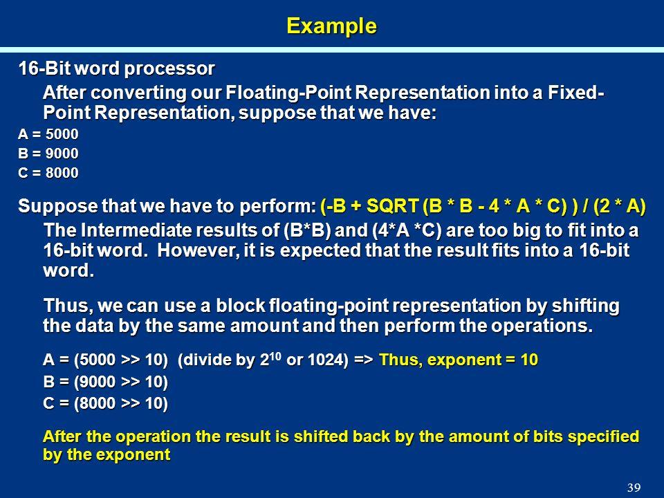 Example 16-Bit word processor