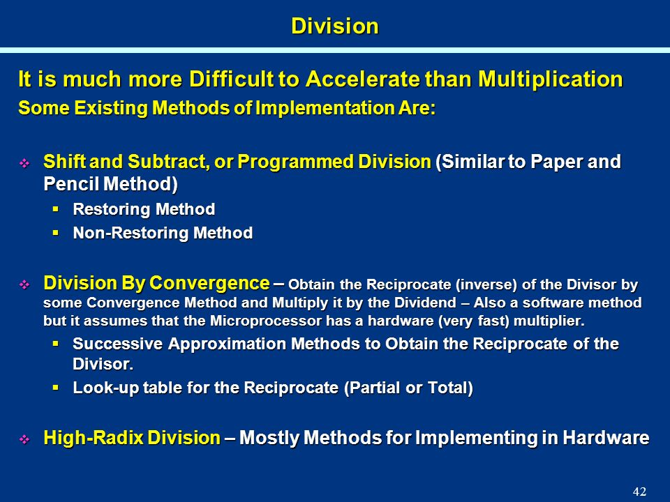It is much more Difficult to Accelerate than Multiplication