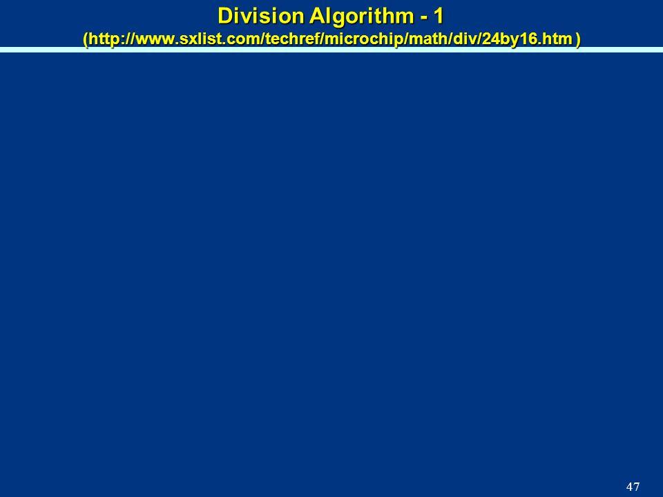 Division Algorithm - 1 (http://www. sxlist