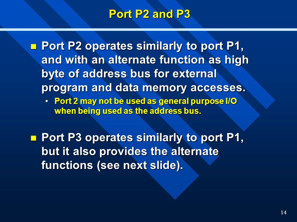 Port P2 and P3