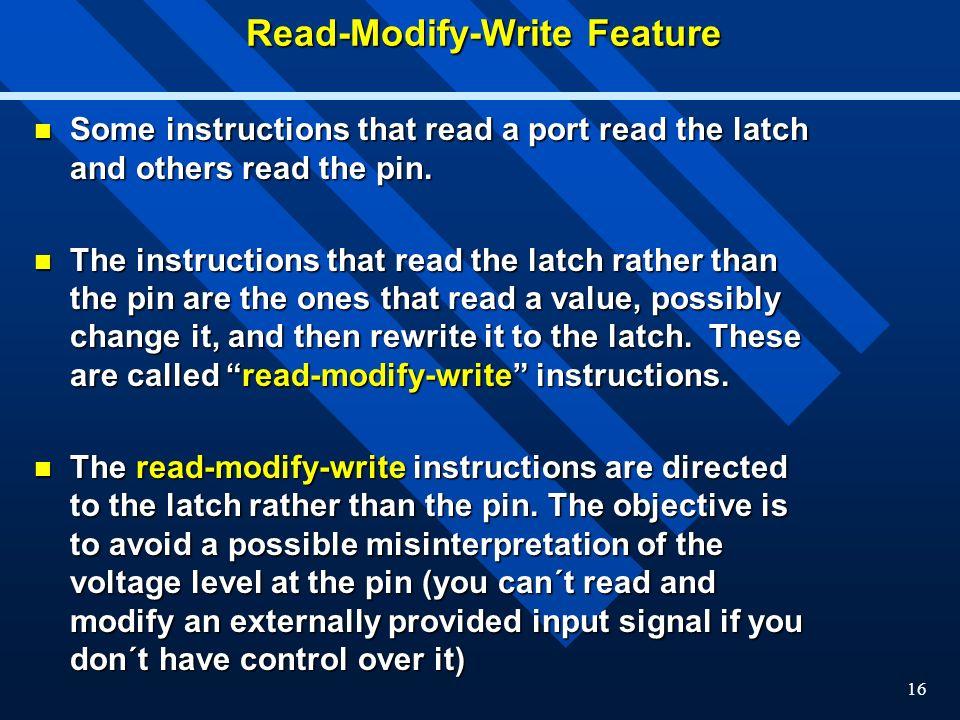 Read-Modify-Write Feature