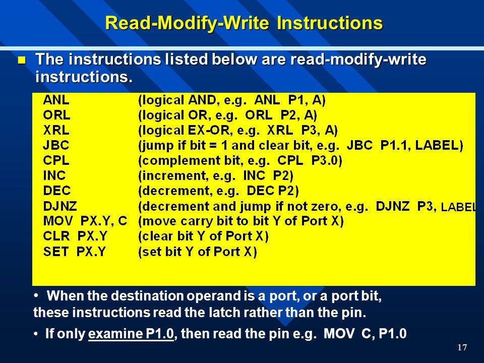 Read-Modify-Write Instructions