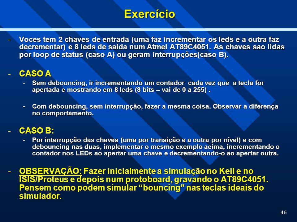 Exercício CASO A CASO B: