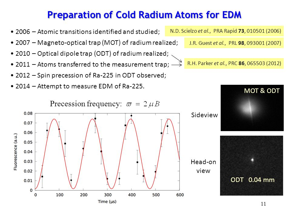 Preparation of Cold Radium Atoms for EDM