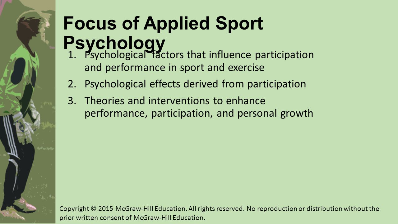Focus of Applied Sport Psychology