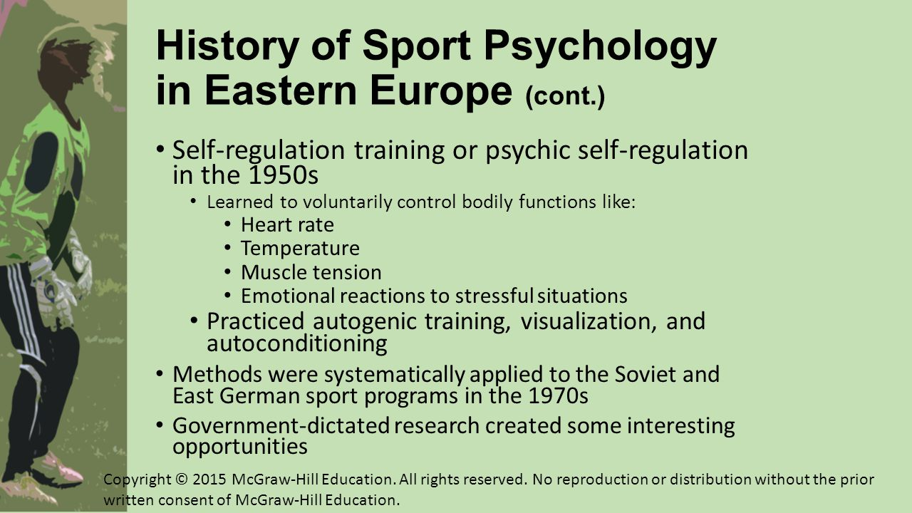 History of Sport Psychology in Eastern Europe (cont.)