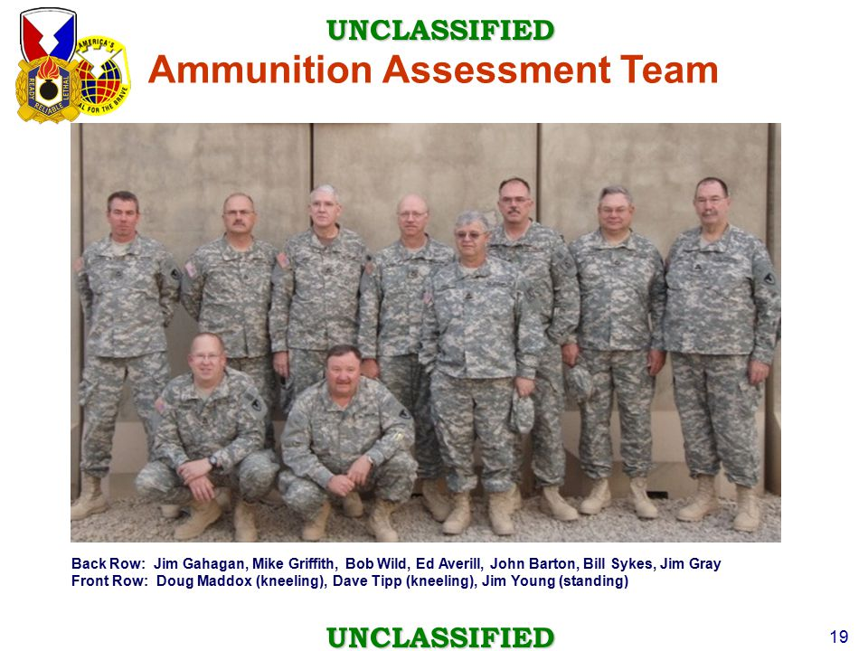 Ammunition Assessment Team