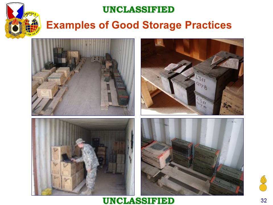 Examples of Good Storage Practices