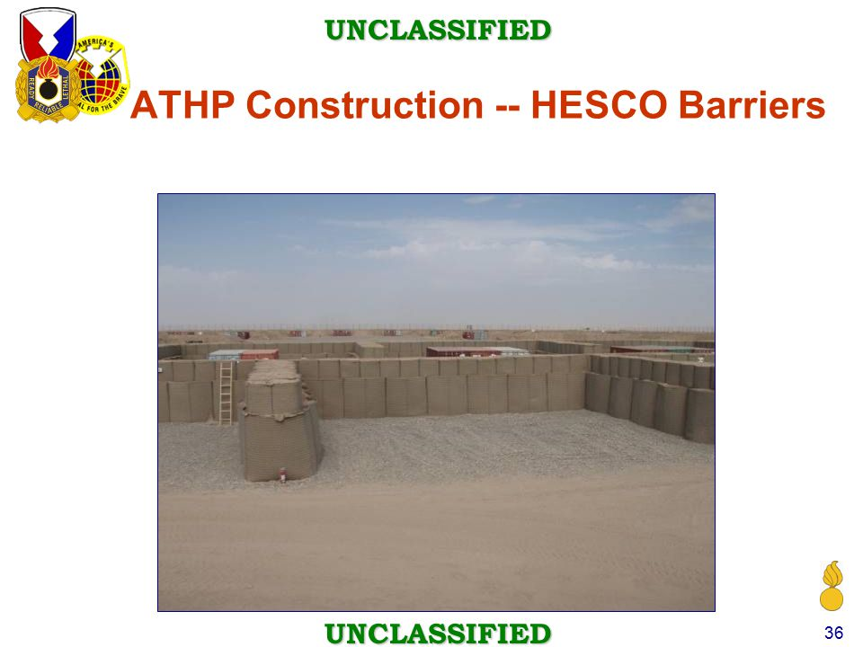 ATHP Construction -- HESCO Barriers