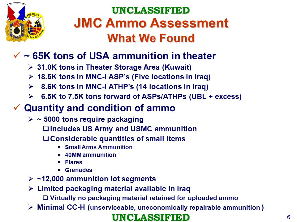 JMC Ammo Assessment What We Found