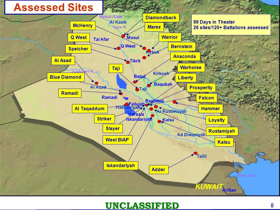 DRAFT Assessed Sites ASSESSED SITES KUWAIT KUWAIT Diamondback