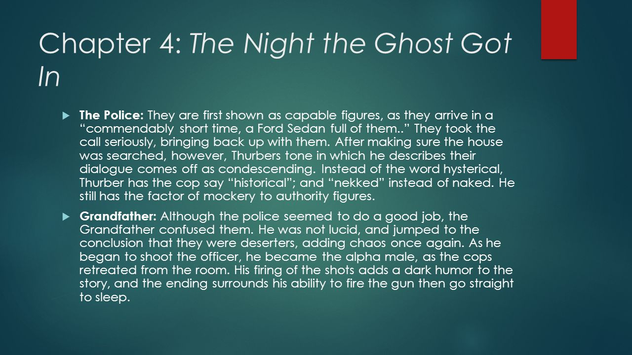 Chapter 4: The Night the Ghost Got In