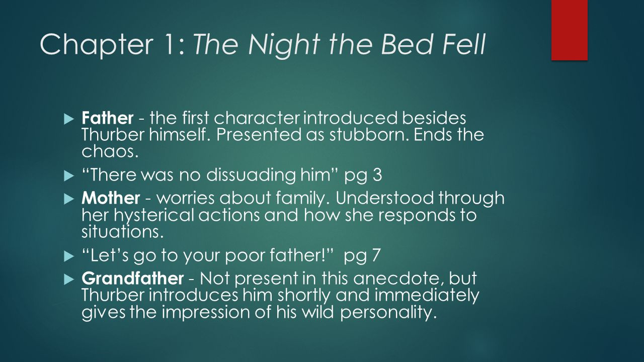 Chapter 1: The Night the Bed Fell
