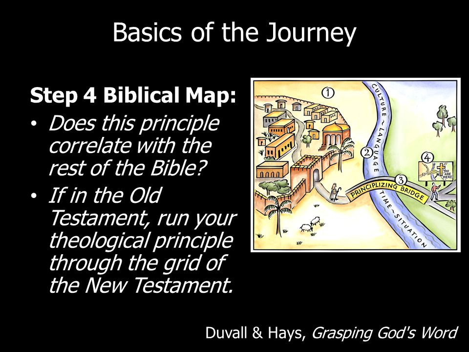 Basics of the Journey Step 4 Biblical Map: