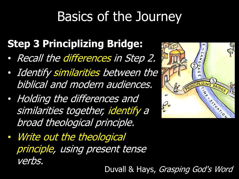 Basics of the Journey Step 3 Principlizing Bridge: