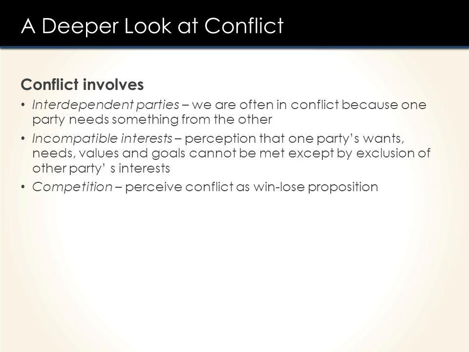 A Deeper Look at Conflict