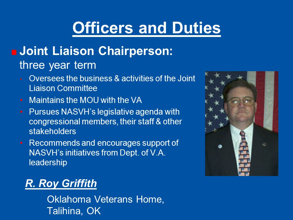 Officers and Duties R. Roy Griffith