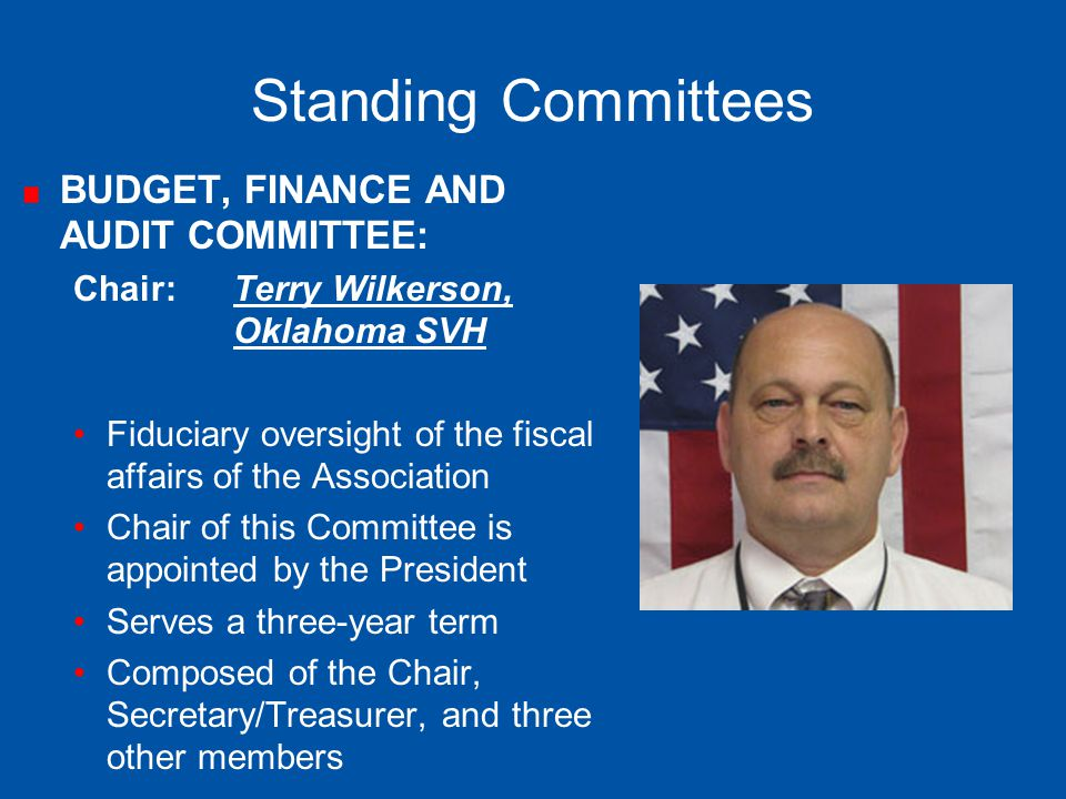 Standing Committees BUDGET, FINANCE AND AUDIT COMMITTEE: