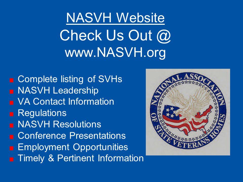 Check Us Out @ NASVH Website www.NASVH.org Complete listing of SVHs