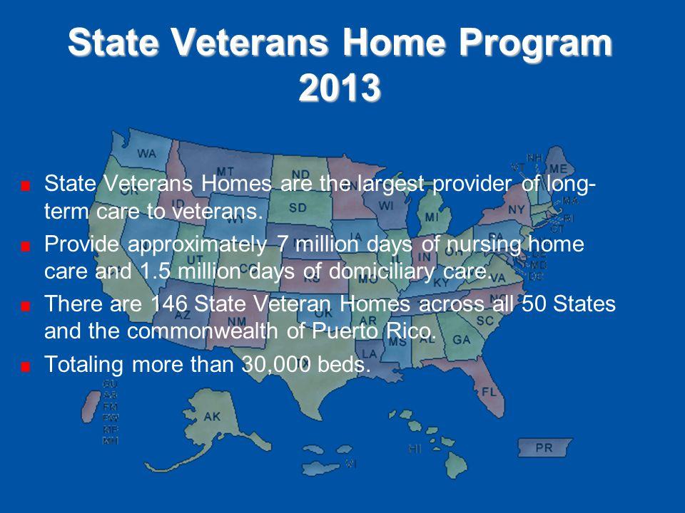 State Veterans Home Program 2013