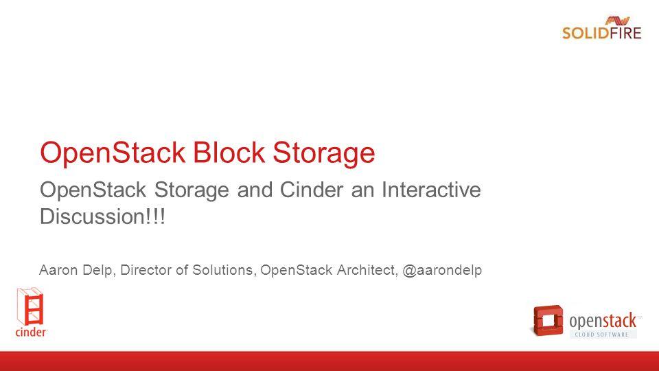 OpenStack Block Storage