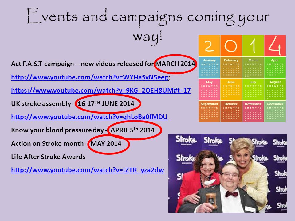 Events and campaigns coming your way!
