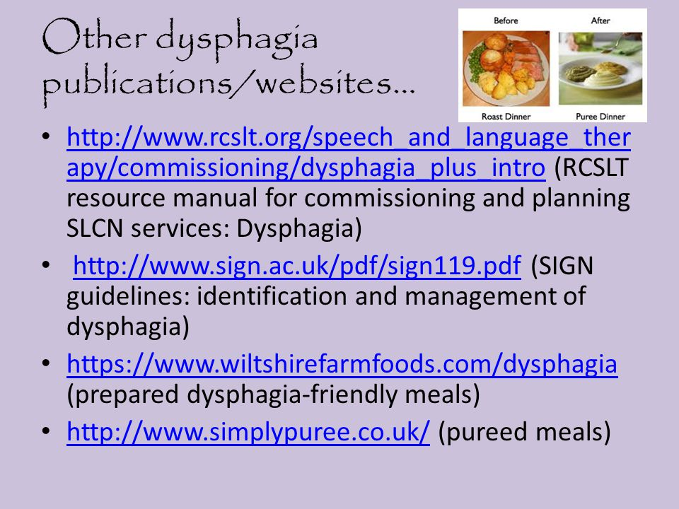 Other dysphagia publications/websites…