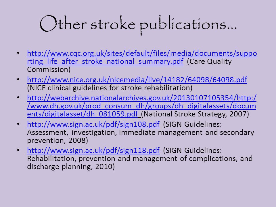 Other stroke publications…