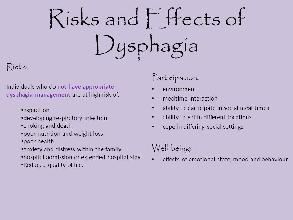 Risks and Effects of Dysphagia