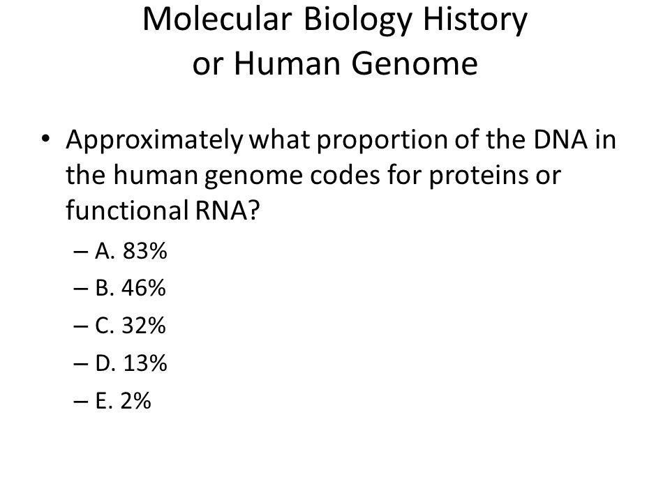 Molecular Biology History or Human Genome
