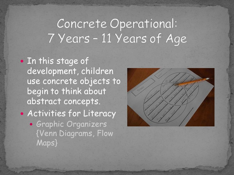 Concrete Operational: 7 Years – 11 Years of Age