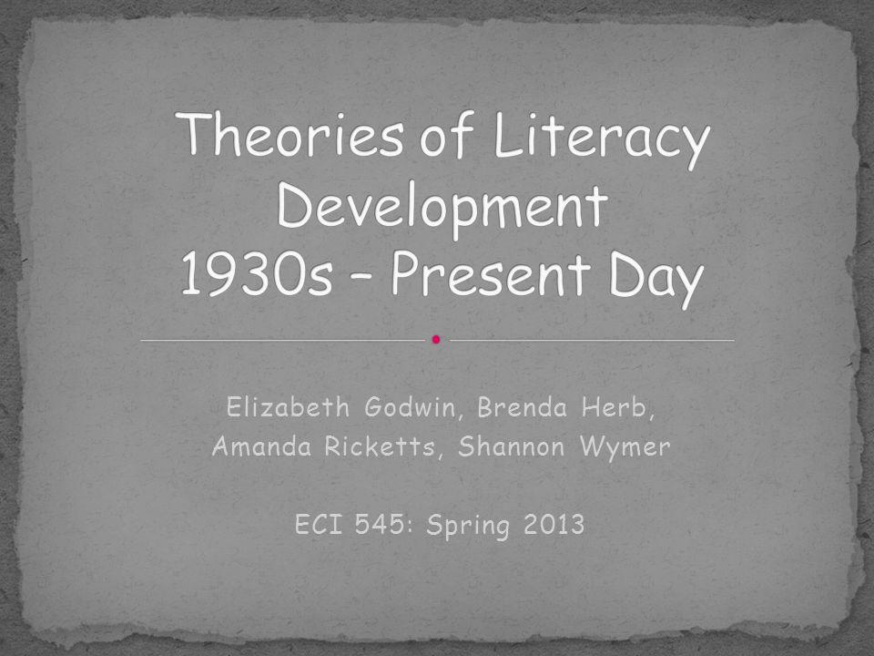 Theories of Literacy Development 1930s – Present Day